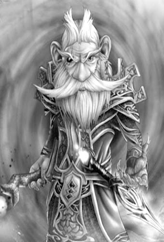 Dungeons and Dragons Gnome Wizard
