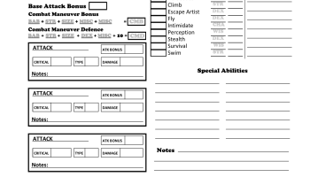 By Photo Congress || D&d 3 5 Character Sheet Pdf Editable Savable