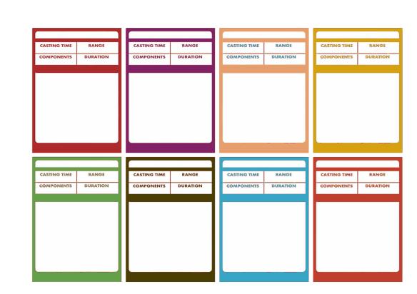 D&D 5e – Spellbook Cards | Dungeon Master Assistance