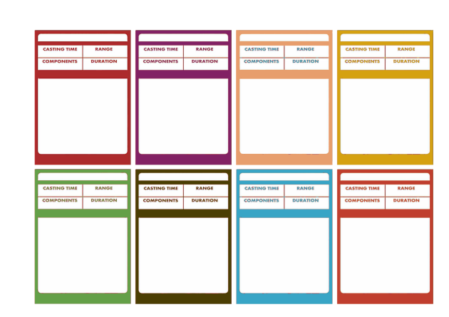 ... you can now have spell cards in various colors. Download them here