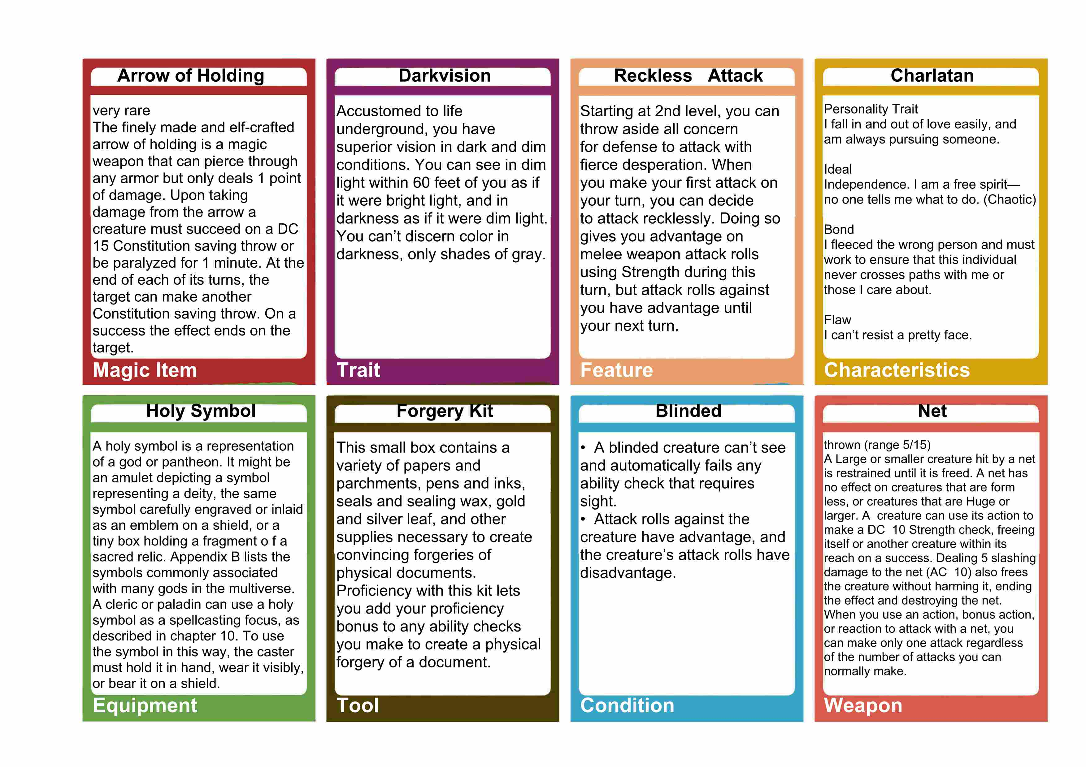photo regarding Printable Spell Cards 5e called 5E Over-all Explanation Playing cards Dungeon Study Guidance