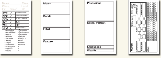 picture regarding Initiative Tracker 5e Printable called DD5e Organization Card Identity Sheet Dungeon Understand