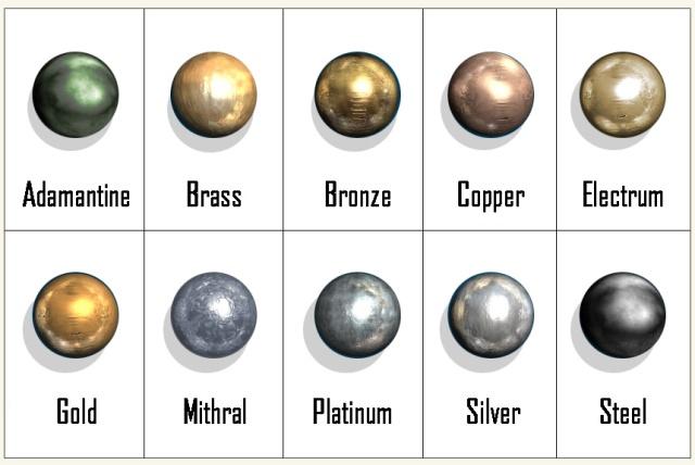 D D 5e Metals Dungeon Master Assistance