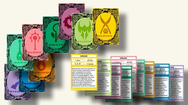 d&d ranger spell cards pdf