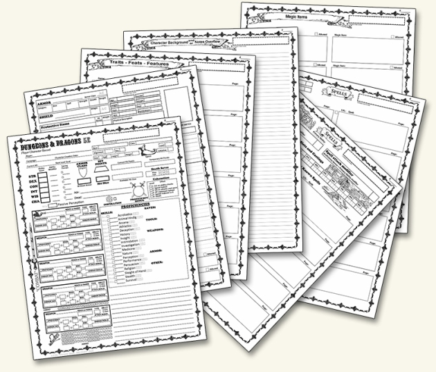 character sheets | Dungeon Master Assistance