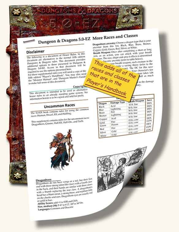 D&D 5E – More Simplified Rules | Dungeon Master Assistance