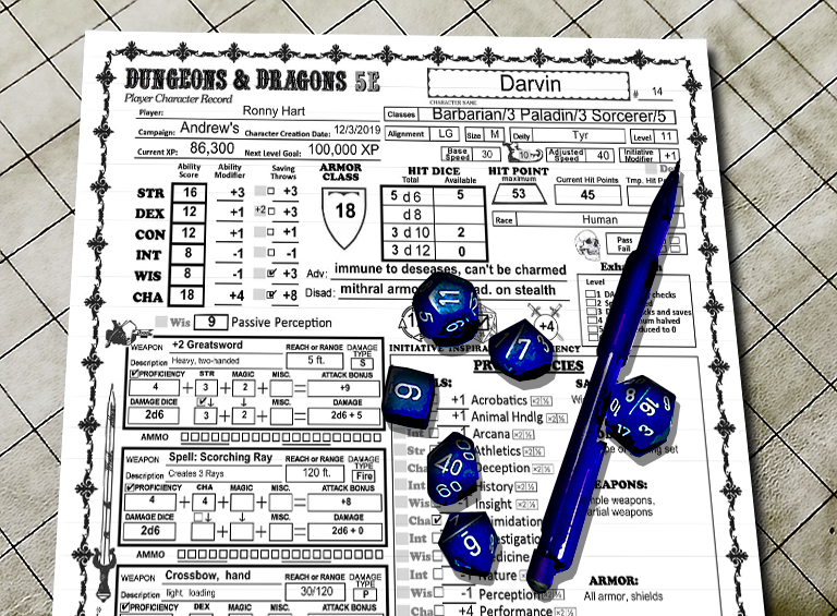 D D 5e Character Sheet And Instructions Dungeon Master Assistance The unofficial artificer player's guide 3.0. d d 5e character sheet and